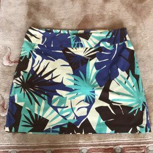 ABS by Allen Schwartz tropical print mini skirt